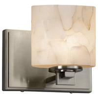 Justice Design ALR-8447-30-NCKL Alabaster Rocks 1 Light 7 inch ADA Wall Sconce Wall Light in LED Brushed Nickel Oval