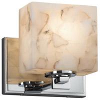 Justice Design ALR-8447-55-CROM-LED1-700 Alabaster Rocks LED 7 inch ADA Wall Sconce Wall Light in 700 Lm LED Polished Chrome Rectangle