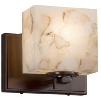 Justice Design ALR-8447-55-DBRZ Alabaster Rocks 1 Light 7 inch ADA Wall Sconce Wall Light in LED Dark Bronze Rectangle