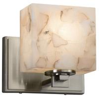 Justice Design ALR-8447-55-NCKL-LED1-700 Alabaster Rocks LED 7 inch ADA Wall Sconce Wall Light in 700 Lm LED Brushed Nickel Rectangle