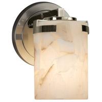 Justice Design ALR-8451-10-NCKL-LED1-700 Alabaster Rocks LED 5 inch Wall Sconce Wall Light in 700 Lm LED Brushed Nickel