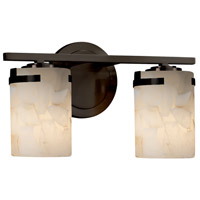 Justice Design ALR-8452-10-DBRZ-LED2-1400 Alabaster Rocks LED 14 inch Vanity Light Wall Light in 1400 Lm LED Dark Bronze