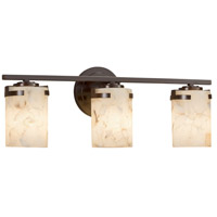 Justice Design ALR-8453-10-MBLK Alabaster Rocks 3 Light 23 inch Vanity Light Wall Light in LED, Matte Black
