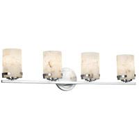 Justice Design ALR-8454-10-CROM Alabaster Rocks 4 Light 32 inch Vanity Light Wall Light in LED Polished Chrome