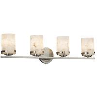 Justice Design ALR-8454-10-NCKL-LED4-2800 Alabaster Rocks LED 32 inch Vanity Light Wall Light in 2800 Lm LED Brushed Nickel