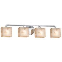 Alabaster Rocks Bronx 4 Light 35 inch Polished Chrome Bath Bar Wall Light
