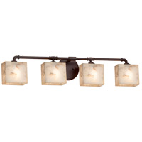 Alabaster Rocks Bronx 4 Light 35 inch Dark Bronze Bath Bar Wall Light