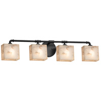 Alabaster Rocks Bronx 4 Light 35 inch Matte Black Bath Bar Wall Light