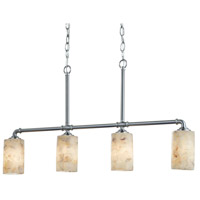 Brushed Nickel Alabaster Rocks Chandeliers