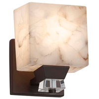 Justice Design ALR-8471-15-CROM-LED1-700 Alabaster Rocks LED 5 inch Polished Chrome Wall Sconce Wall Light in 700 Lm LED, Square with Flat Rim