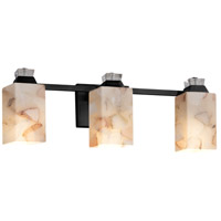 Alabaster Rocks Ardent 3 Light 23 inch Matte Black Bath Bar Wall Light