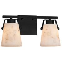 Justice Design ALR-8482-MBLK-LED2-1400 Alabaster Rocks Nexus LED 15 inch Matte Black Bath Bar Wall Light