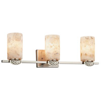 Alabaster Rocks Malleo 3 Light 24 inch Brushed Nickel Bath Bar Wall Light