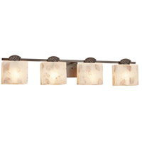 Justice Design ALR-8494-55-DBRZ Alabaster Rocks Malleo 4 Light 33 inch Dark Bronze Bath Bar Wall Light