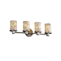 Justice Design Alabaster Rocks Rondo 4-Light Bath Bar in Brushed Nickel ALR-8514-10-NCKL