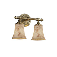 Justice Design Alabaster Rocks Tradition 2-Light Bath Bar in Antique Brass ALR-8522-20-ABRS