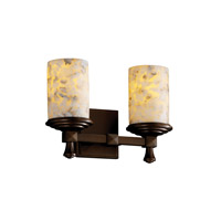 Justice Design Alabaster Rocks Deco 2-Light Bath Bar in Dark Bronze ALR-8532-10-DBRZ