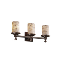 Justice Design Alabaster Rocks Deco 3-Light Bath Bar in Dark Bronze ALR-8533-10-DBRZ