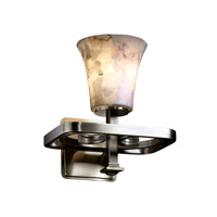 Justice Design Alabaster Rocks Arcadia 1-Light Wall Sconce in Antique Brass ALR-8561-20-ABRS photo thumbnail