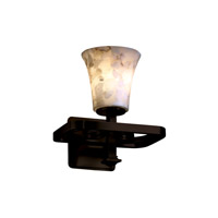 Justice Design Alabaster Rocks Arcadia 1-Light Wall Sconce in Dark Bronze ALR-8561-20-DBRZ