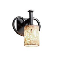Justice Design Alabaster Rocks Heritage 1-Light Wall Sconce in Matte Black ALR-8581-10-MBLK
