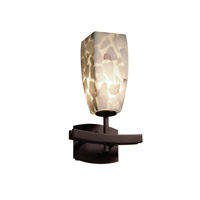 Alabaster Rocks 1 Light 9 inch Dark Bronze Wall Sconce Wall Light in Fluorescent, Tall Tapered Square
