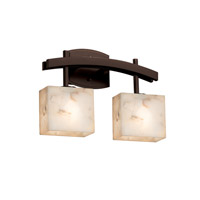 Justice Design Group Alabaster Rocks LED Vanity Light in Dark Bronze ALR-8592-55-DBRZ-LED2-1400