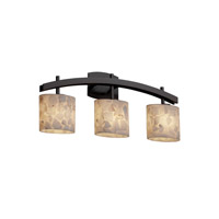 Alabaster Rocks 3 Light 26 inch Dark Bronze Bath Bar Wall Light in Fluorescent, Oval