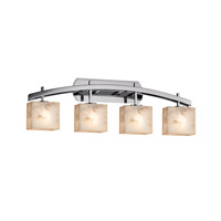 Alabaster Rocks 4 Light 36 inch Polished Chrome Vanity Light Wall Light in Fluorescent, Rectangle