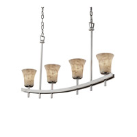 Justice Design Archway 4 Light Chandelier in Brushed Nickel ALR-8595-20-NCKL