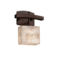Alabaster Rocks LED 9 inch Dark Bronze ADA Wall Sconce Wall Light in 700 Lm 1 Light LED, Rectangle