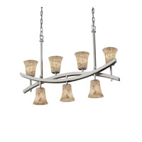 Archway 7 Light 6 inch Brushed Nickel Chandelier Ceiling Light in Fluorescent, Round Flared