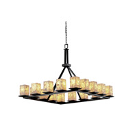 Justice Design Alabaster Rocks Montana 16-Light Ring Chandelier in Matte Black ALR-8615-15-MBLK