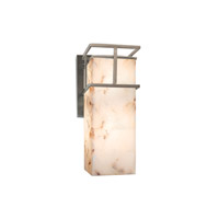 Alabaster Rocks LED 5 inch Brushed Nickel Wall Sconce Wall Light