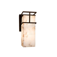 Alabaster Rocks LED 7 inch Dark Bronze Wall Sconce Wall Light