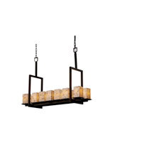 Justice Design Alabaster Rocks Montana 14-Light Bridge Chandelier (Tall) in Dark Bronze ALR-8664-15-DBRZ