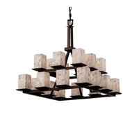 Justice Design ALR-8667-15-DBRZ Alabaster Rocks 20 Light 34 inch Dark Bronze Chandelier Ceiling Light photo thumbnail