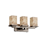 Alabaster Rocks 3 Light 21 inch Brushed Nickel Bath Bar Wall Light