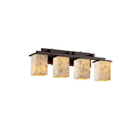 Alabaster Rocks 4 Light 29 inch Dark Bronze Bath Bar Wall Light