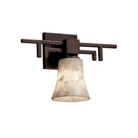 Justice Design Alabaster Rocks Aero 1-Light Wall Sconce in Dark Bronze ALR-8701-20-DBRZ