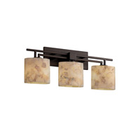 Justice Design Alabaster Rocks Aero 3-Light Bath Bar in Dark Bronze ALR-8703-30-DBRZ