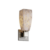 Justice Design Alabaster Rocks Aero 1-Light Wall Sconce (No Arms) in Brushed Nickel ALR-8705-65-NCKL