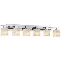 Justice Design Alabaster Rocks Aero 6-Light Bath Bar in Polished Chrome ALR-8706-30-CROM