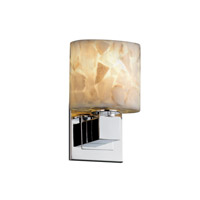 Justice Design Alabaster Rocks Aero Ada 1-Light Wall Sconce (No Arms) in Polished Chrome ALR-8707-30-CROM