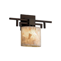 Justice Design Alabaster Rocks Aero Ada 1-Light Wall Sconce in Dark Bronze ALR-8711-30-DBRZ