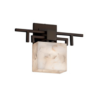 Alabaster Rocks LED 14 inch Dark Bronze ADA Wall Sconce Wall Light in 700 Lm 1 Light LED, Rectangle
