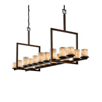 Justice Design Alabaster Rocks Dakota 20-Light Bridge Chandelier in Dark Bronze ALR-8717-10-DBRZ