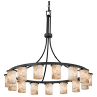 Alabaster Rocks LED 42 inch Matte Black Chandelier Ceiling Light