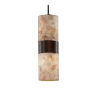 Justice Design ALR-8758-10-DBRZ-LED2-1400 Alabaster Rocks LED 4 inch Dark Bronze Pendant Ceiling Light in 1400 Lm LED