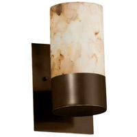 Justice Design ALR-8761-10-DBRZ-LED1-700 Alabaster Rocks LED 5 inch Dark Bronze Wall Sconce Wall Light Cylinder